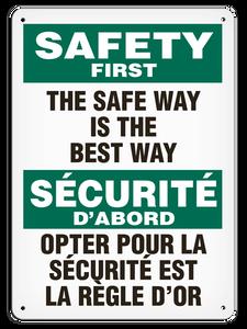OSHA Safety Sign | Safety E/F Safe Way| | Incom