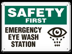 OSHA Safety Sign | Safety Eye Wash Stn  | Incom
