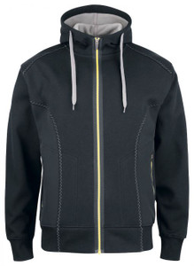 Hooded Jacket With Softshell Sides   Projob