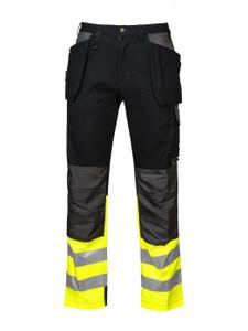 Full Weight Multi Pocket Pants, Hi-Vis Bottom | Projob