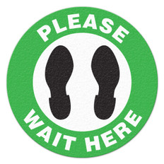 Please Wait Here - Floor Sign | INCOM