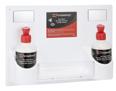 Eye Wash Station & First Aid Kit w/ Panel FAEWK1714 plus 2 empty Eye Wash bottles with sprout and eye cups 32 oz/1 L | Dynamic