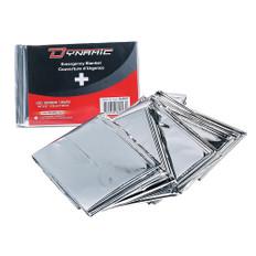 Emergency rescue blanket –Silver Mylar w/ refl. surface - Disposable | Dynamic