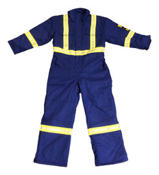 *BLOW OUT* ROYAL BLUE INSULATED FR COVERALLS   FIREWALL