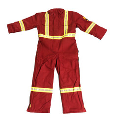 *BLOW OUT* RED INSULATED FR COVERALLS   FIREWALL
