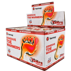 Adhesive Toe Warmers - Box of 40 | Yak