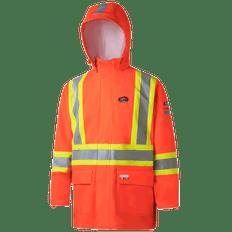 Hi-Viz FR ARC PU/Cotton Rain Jackets | Pioneer