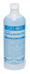 Rubbing Alcohol 70% Solution - 2 Pkg, 500 ml - Dynamic - FARB500