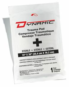 "Dynamic First Aid Trauma Pad 10"" X 30"" Sterile - 1 Per Bag"