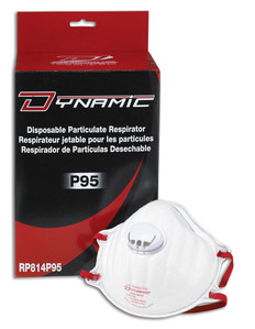 Standard P95 Disposable Respirators with Valve - 10 Pkg - Dynamic - RP814P95