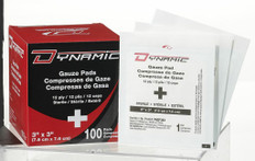 "Dynamic Gauze Pad 3"" x 3"" sterile - Box of 100"