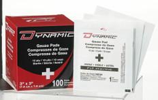 "Dynamic Gauze Pad 3"" x 3"" sterile - Bag of 50"