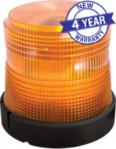 Low Profile Polycarbonate LED Beacon Light - Magnetic Mount - SWS AMBER 201ZM-12V-A