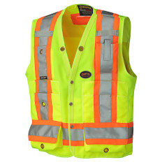 Hi-Vis Surveyor Safety Vest - CSA, Class 2, 150D - Pioneer Startech - 6693 Yellow
