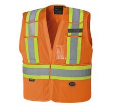 Hi-Vis Polyester Mesh Tear-Away Safety Vest | Pioneer