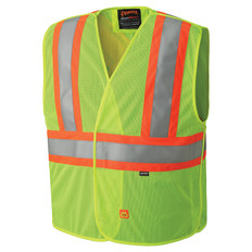 FR Hi-Vis Mesh Tear-Away Safety Vest - CSA, Class 2 - Pioneer 6916A