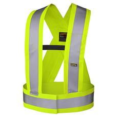 Adjustable Hi-Vis Elastic Safety Sash - CSA, Class 1 - Pioneer - 5590 - Yellow