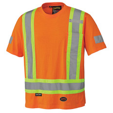 Hi-Vis 100% Cotton Safety T-Shirt - CSA, Class 1 - Pioneer - 6978
