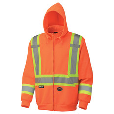 Hi-Vis Poly Fleece Zip-Up Hoodie - CSA, Class 2 - Pioneer - 6924