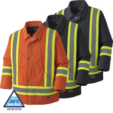Hi-Vis Quilted Duck Safety Parka | Pioneer