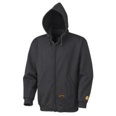FR Heavyweight Zip Style Cotton Hoodie - CSA - Pioneer Black (337)