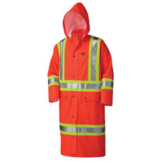 Hi-Vis Long Stretch Waterproof Coat - FR, CSA - Pioneer 5896