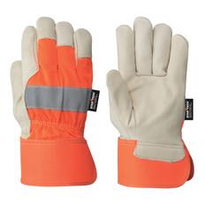 Hi-Vis Cowgrain Fitter's Safety Glove Startech Pioneer ORANGE 536HVO