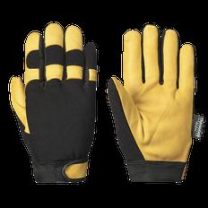 Mechanic's Glove  - Gold Goatgrain Palm - Black Spandex Back - Thinsulate® Lined