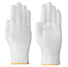 Knitted Cotton Jersey Glove Liner - White - Pioneer - 540