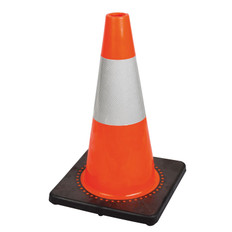 "Hi-Vis Flexible Safety Cone with Band - 18"" - Pioneer - 181"