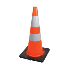 "Hi-Vis Flexible Safety Cone with Double Bands - 28"" - Pioneer - 183"