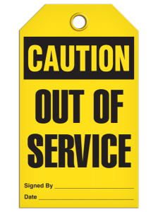 Caution - Out Of Service | Pack of 25 | Incom