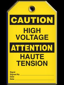 Bilingual Caution – High Voltage     Pack of 25   Incom