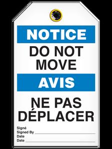 Bilingual Notice – Do Not Move    PKG/25   Incom