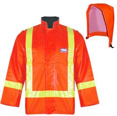 Hi-Vis Journeyman Waterproof Safety Jacket Chemical-Resistant Viking - 6210J+6212