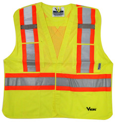 Hi-Vis 5-Point Tear-Away Safety Vest CSA, Class 2 Viking 6125O Orange