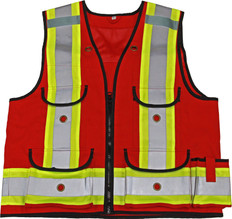 Premium 1000D Surveyor Safety Vest - CSA, Class 1 - Viking - 4915R
