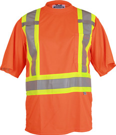 Hi-Vis Premium Double-Layer Safety T-Shirt - CSA, Class 2 - Viking - 6006O