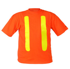 Hi-Vis 100% Cotton Safety T-Shirt  OSHA  Viking 6001O - Orange