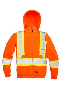 Hi-Vis Anti-Pill Poly Fleece Safety Hoodie - CSA, Class 1 & 2 - Viking - 6420JO