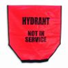 Heavy Duty Red Fire Hydrant Out of Service Covers