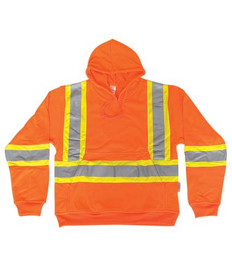 Orange 100% Polyester Hoodie Pull-Over Style | Big K