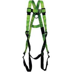 Hi-Vis Full Body Contractor Harness - 1D, Class A -  PeakWorks - Hi-Vis Green