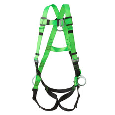 Hi-Vis Full Body Contractors Harness - 3D Class AP - FBH-10000B - PeakWorks - Green
