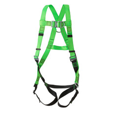 Hi-Vis Full Body Contractor Harness 3D Class AL - FBH-10000L - Peakworks - Green