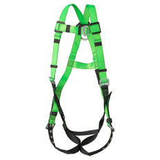Hi-Vis Contractor Harness with Leg Strap Grommetts  - 1D Class A - FBH-10020A - Green