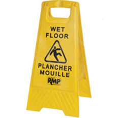 Wet Floor A-Frame Safety Sign - Bilingual - SCN - JD391