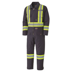 Hi-Vis Quilted Duck Safety Coverall - CSA, Class 1 - Pioneer - 5539A NAVY