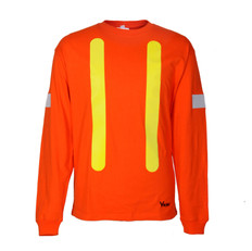 Hi-Vis Pre-Shrunk Cotton Long Sleeve Safety Shirt - OSHA - Viking 6017O