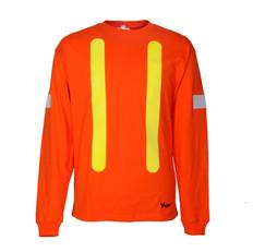 Hi-Vis Pre-Shrunk Cotton Long Sleeve Safety Shirt -OSHA -Viking 6017O